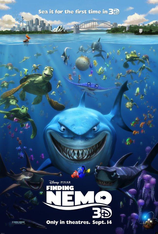 Pixar Planet Disney Affiche Monde de Nemo 3d
