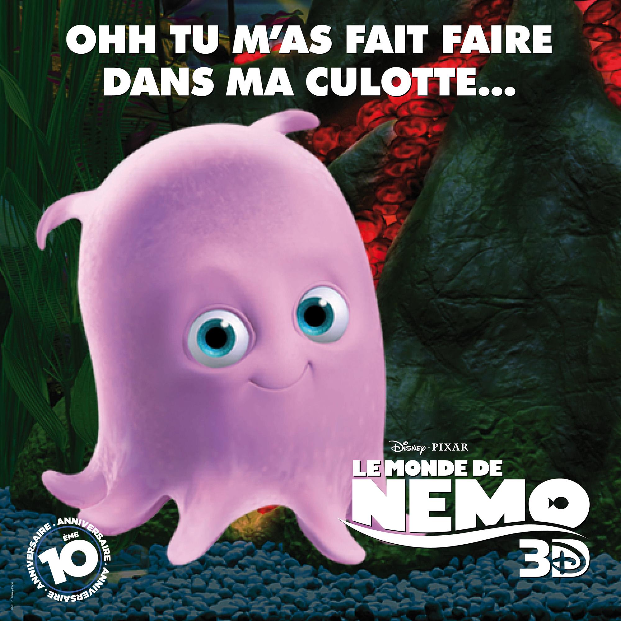 pixar planet disney monde nemo 3d affiche