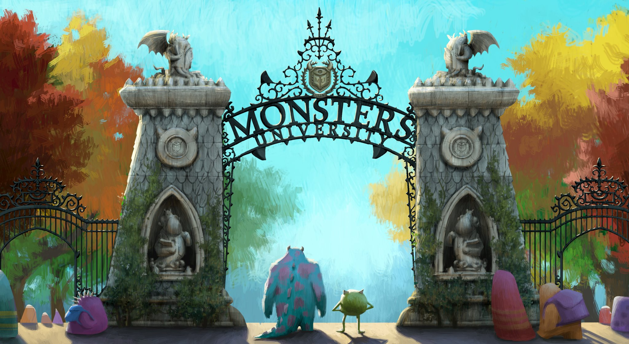 Pixar Planet Disney monstre academy university doublage