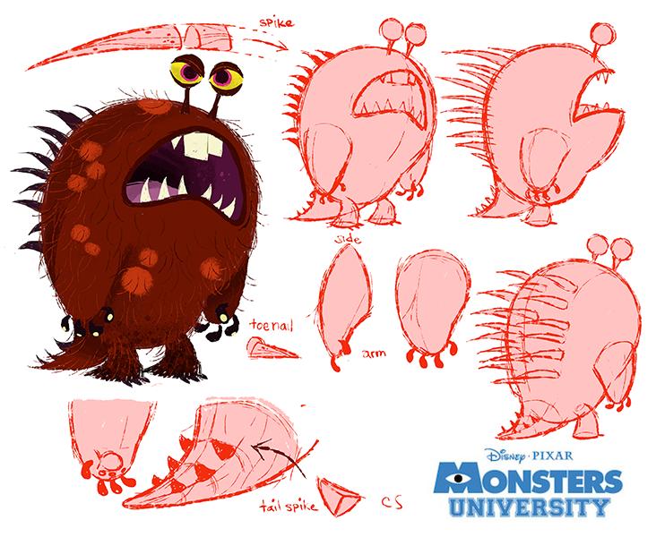 pixar disney artwork monstres academy monsters university Chris Sasaki