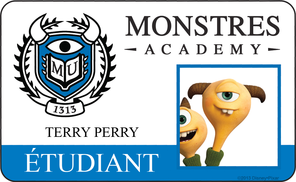 Pixar Planet Disney affiche monstres academy
