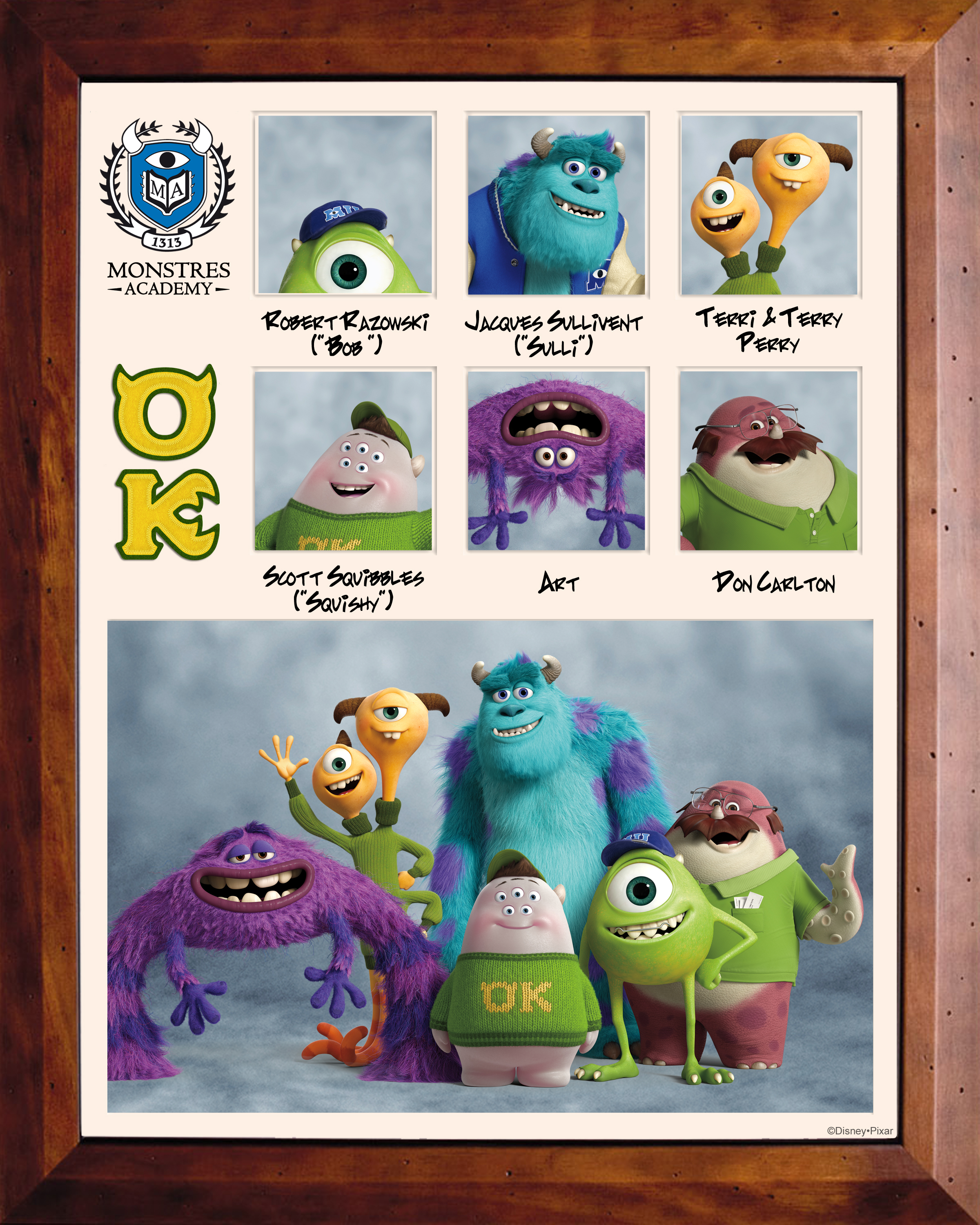 pixar planet disney monstre academy university affiche