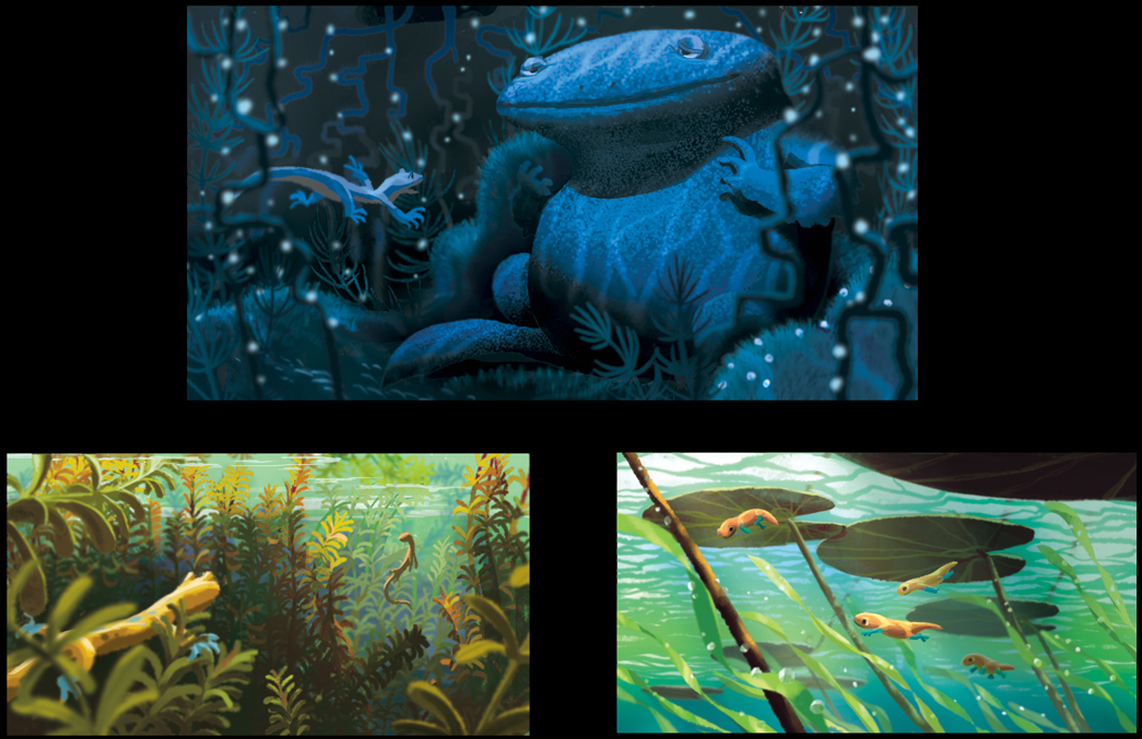 pixar planet disney newt artwork