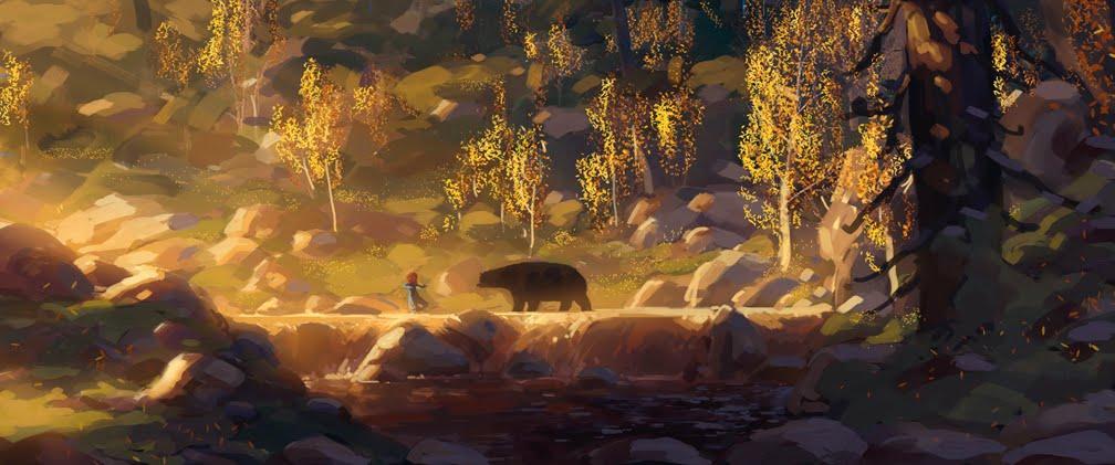 Pixar planet disney rebelle brave artwork