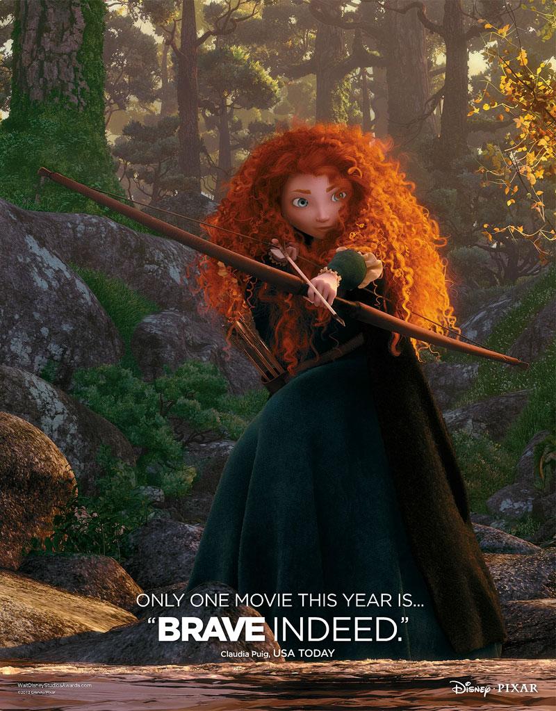 Pixar Affiche Brave Rebelle oscar