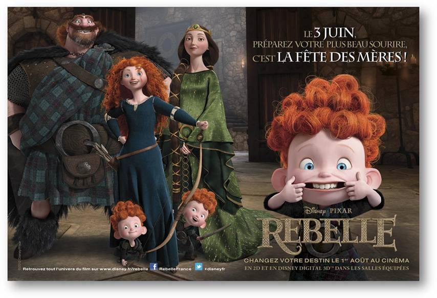 Pixar Planet Disney Rebelle brave character personnage