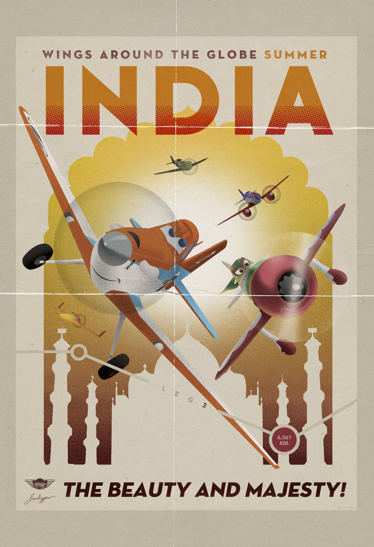 Un extrait et des affiches vintage de u00ab Planes u00bb. : Pixar ...