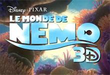 Pixar Planet Disney Affiche Monde de Nemo logo 3d