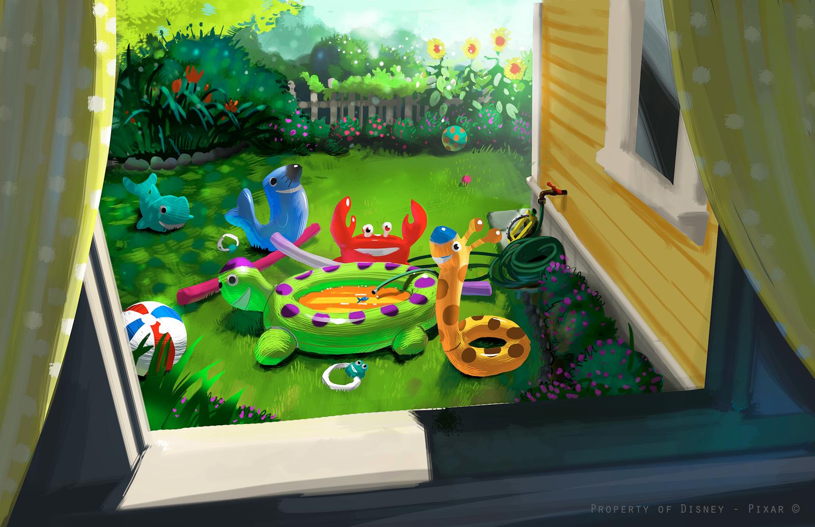 Pixar planet disney artwork Toy Story Toons partysaurus rex