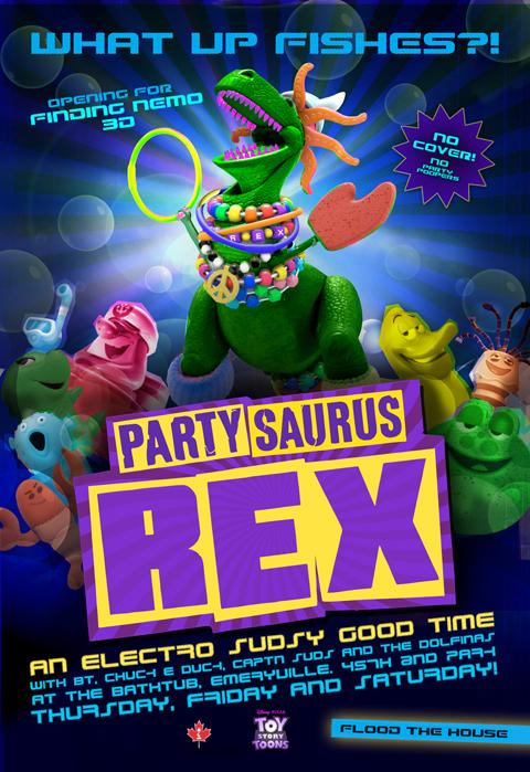 Pixar Logo Toy Story Toons partysaurus rex