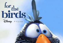 Pixar disney affiche poster drôles d'oiseaux sur une ligne à haute tension for the birds