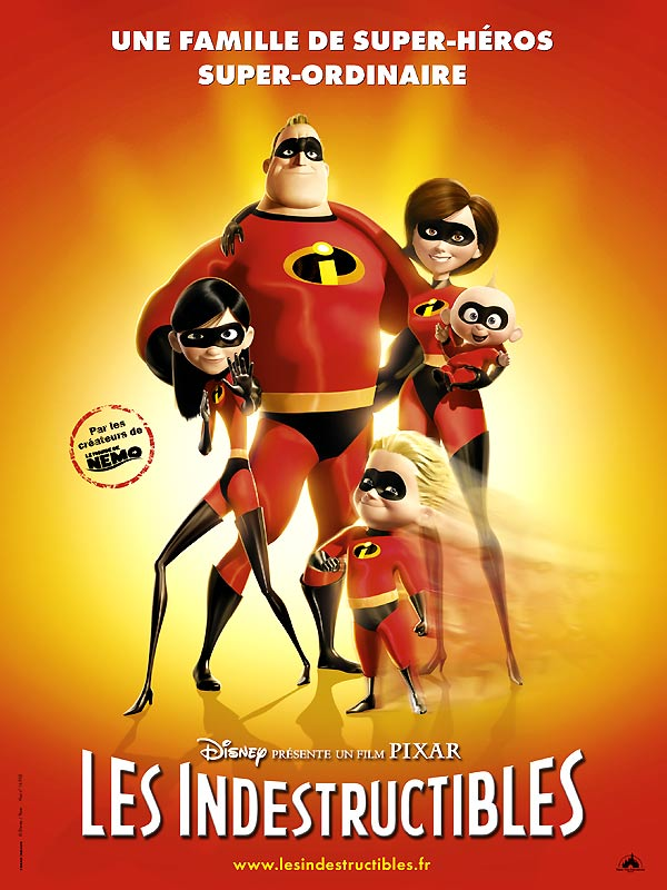 affiche poster indestructibles incredibles disney pixar