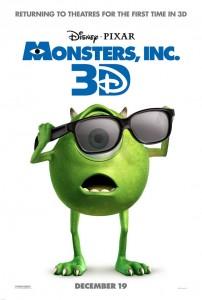 affiche monstres cie pixar disney poster monsters inc 3D