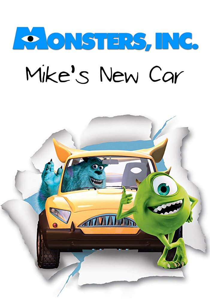 affiche poster nouvelle voiture bob mike new car disney pixar