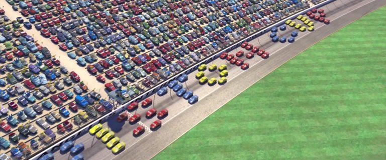 """Alphanuméros, personnage dans """"Cars""""."""