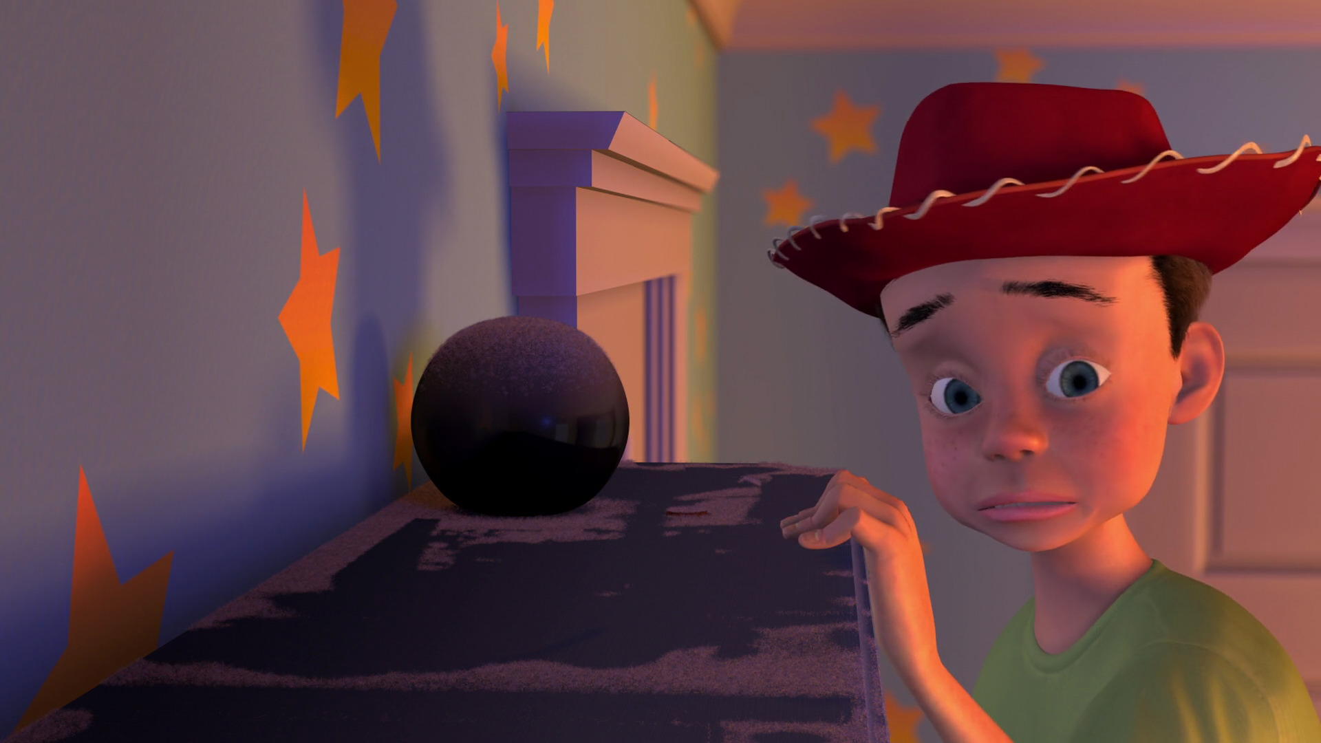 Andy appears in one of Woody s nightmares where the two are reunited after  his holiday but the cowboy gets thrown away after the little boy notices  his torn. Andy Andrew Davis  character from  Toy Story     Pixar Planet Fr
