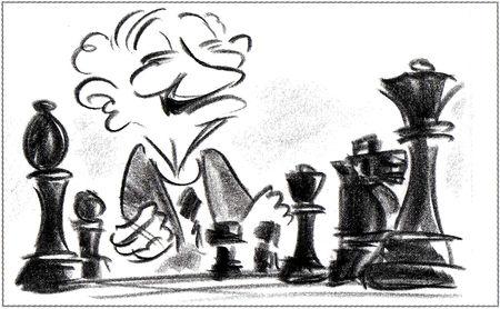 artwork joueur échec geri game disney pixar