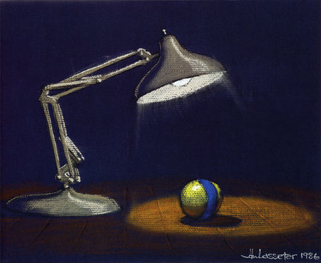 artwork luxo jr disney pixar