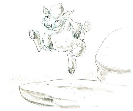 Pixar disney artwork concept art saute mouton boundin