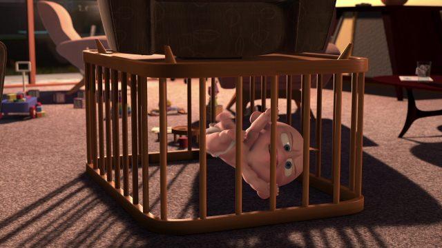 image baby sitting attack jack jack disney pixar