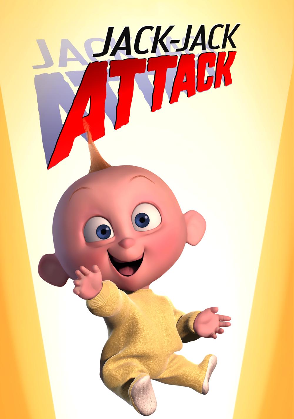 pixar disney affiche poster baby-sitting jack-jack attack