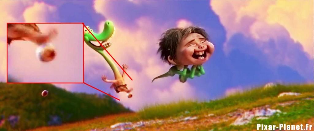 pixar disney voyage arlo good dinosaur clin oeil easter egg ballon luxo ball