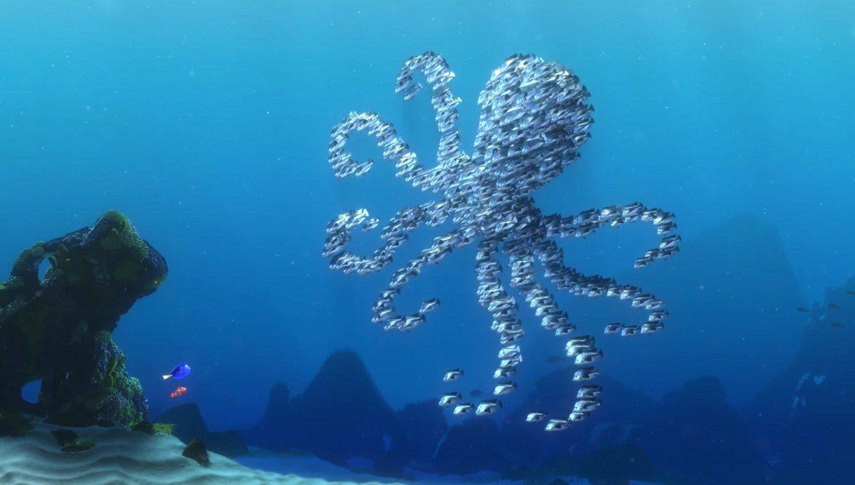 banc poisson school moonfish personnage character monde nemo finding dory disney pixar