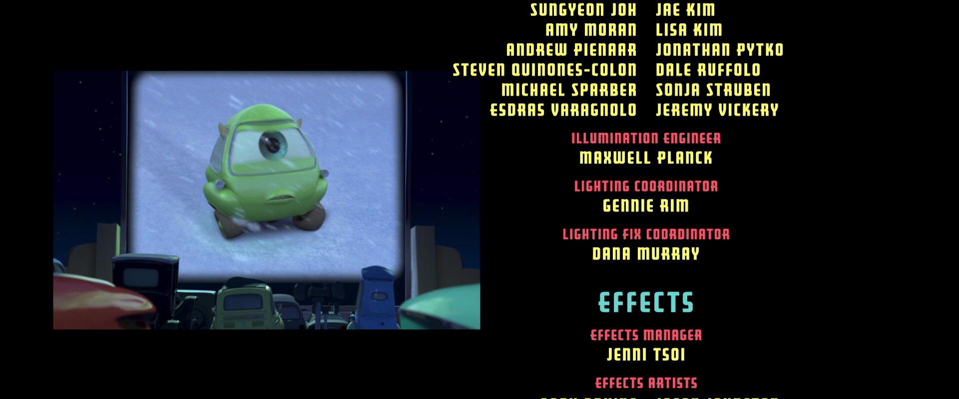 bob mike personnage character pixar disney cars