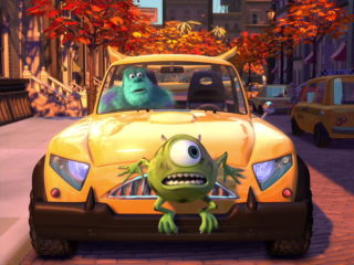 bob razowski mike wazowski pixar disney personnage character nouvelle voiture bob mike new car