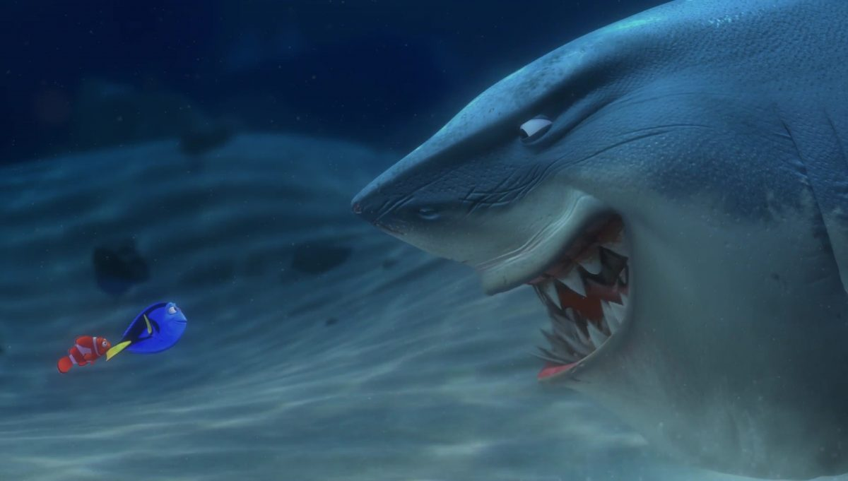 bruce personnage character monde nemo finding dory disney pixar
