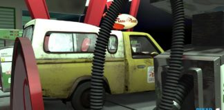 toy story camion truck pizza planet disney pixar