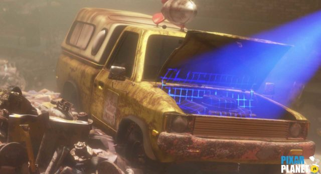 wall-e camion truck pizza planet disney pixar