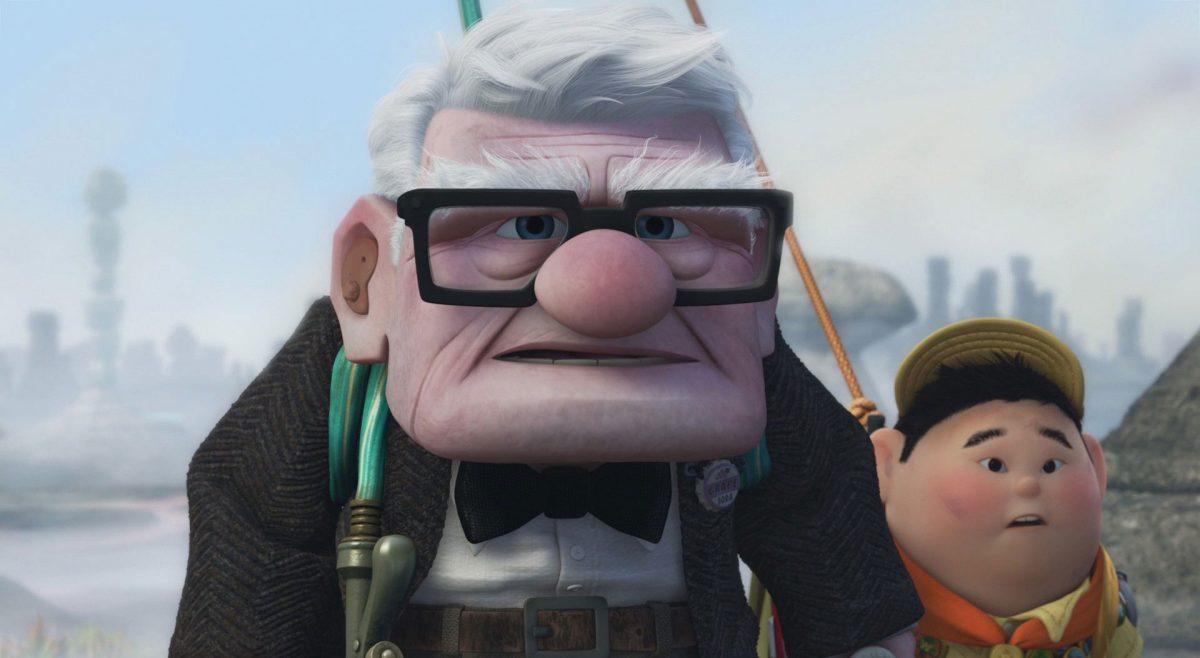 carl fredricksen personnage character là-haut up disney pixar