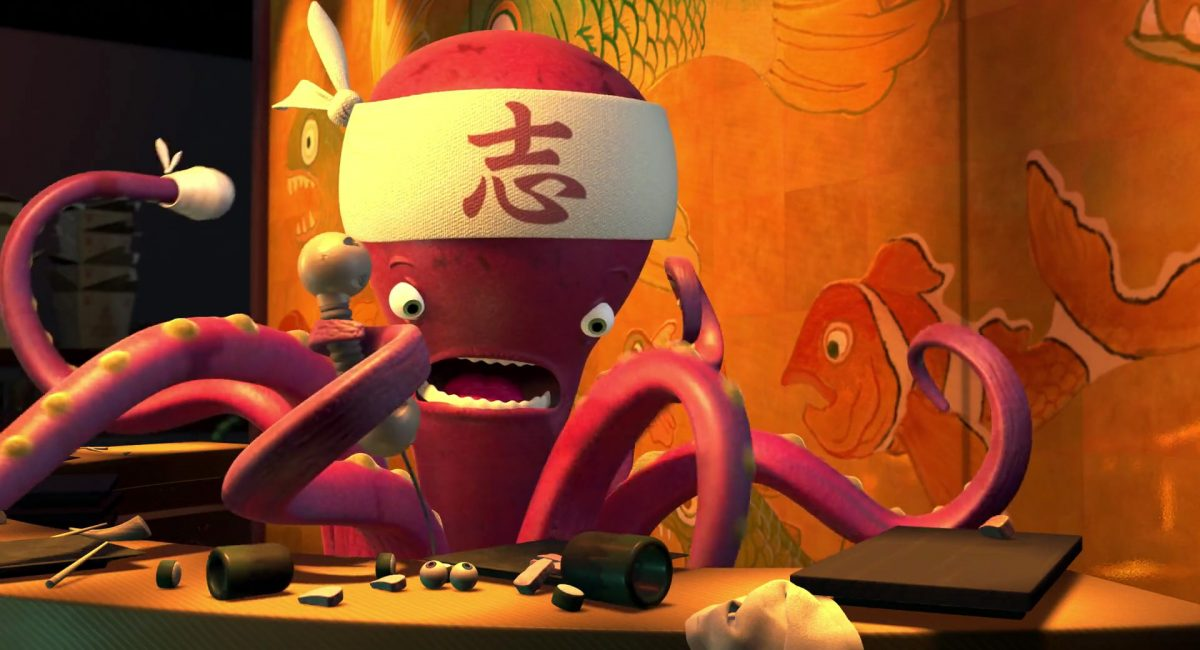 chef sushi personnage character monstres monsters inc cie disney pixar