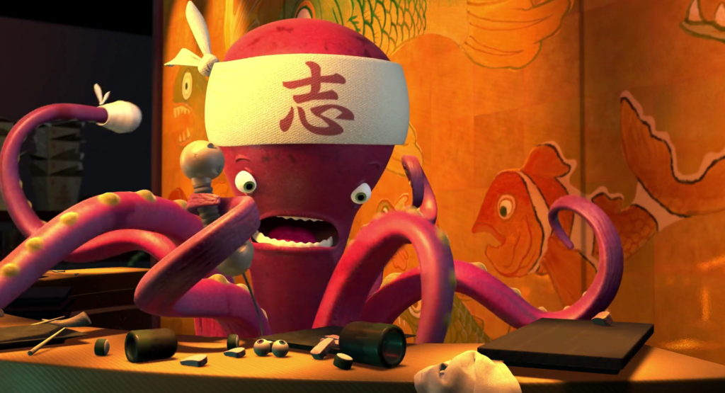 chef sushi pixar disney personnage character monstres cie monsters inc