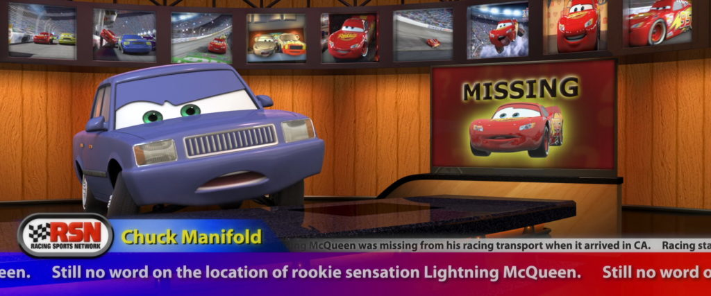 chuck manifold personnage character pixar disney cars