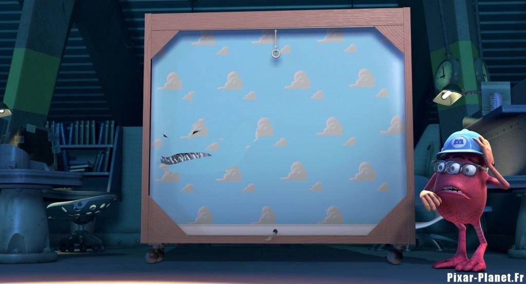 pixar disney clin oeil easter egg monstres cie monsters inc