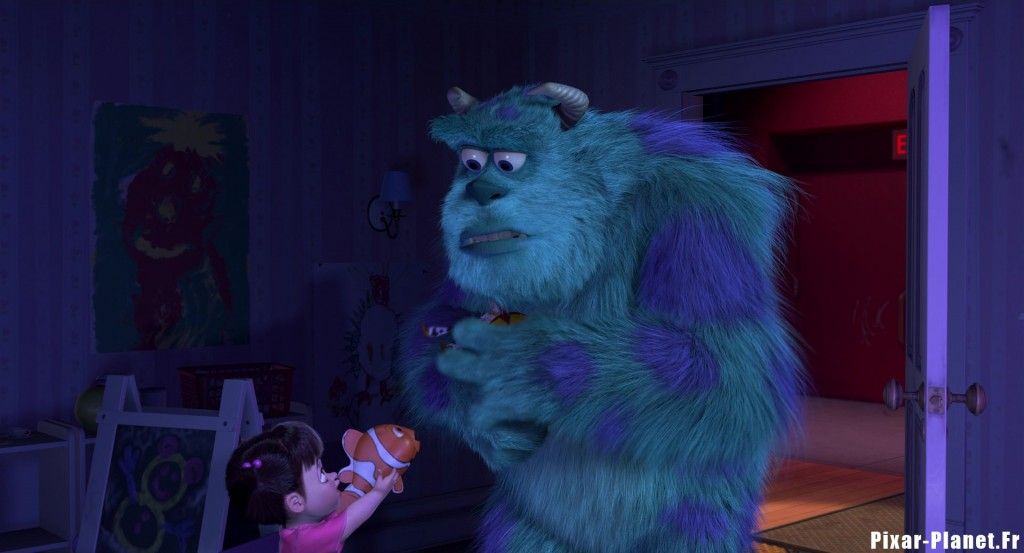 pixar disney clin oeil easter egg monstres cie monsters inc