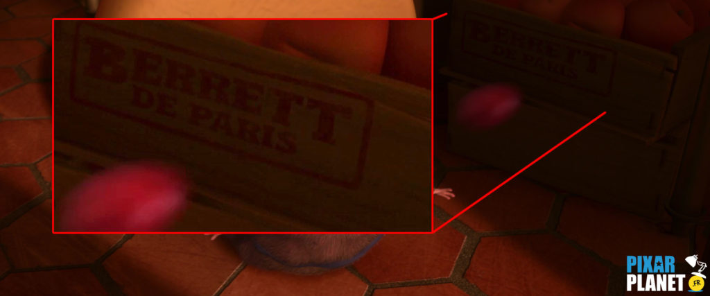 clin oeil easter egg ratatouille pixar disney