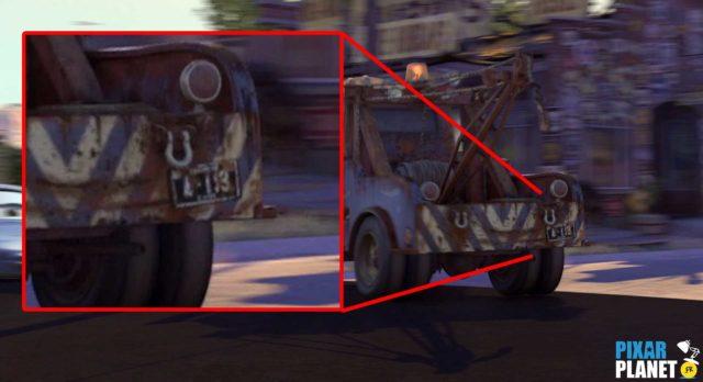 cars code a113 Pixar Disney