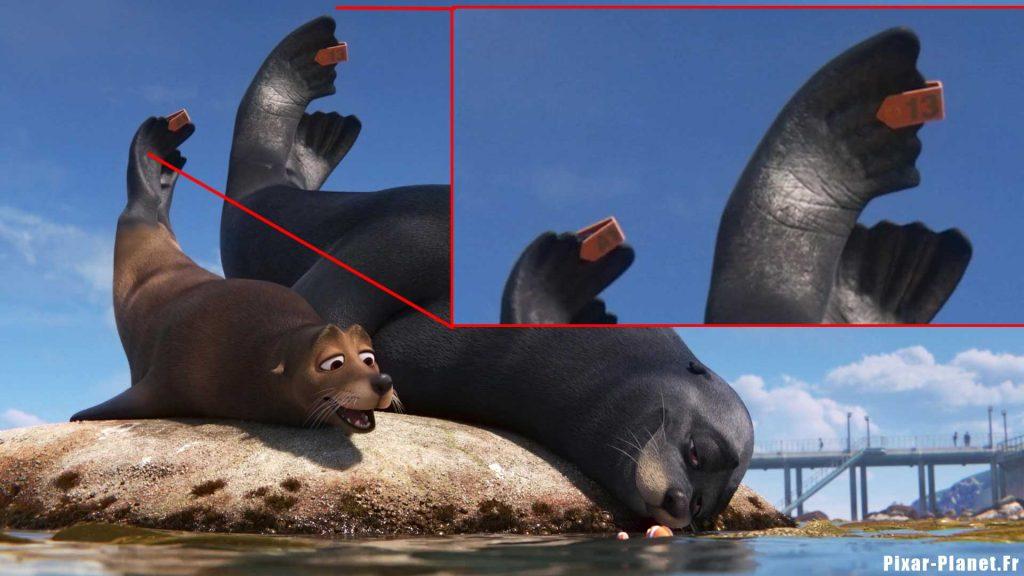 disney pixar monde dory finding easter egg clin oeil code a113