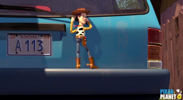 toy story code a113 Pixar Disney