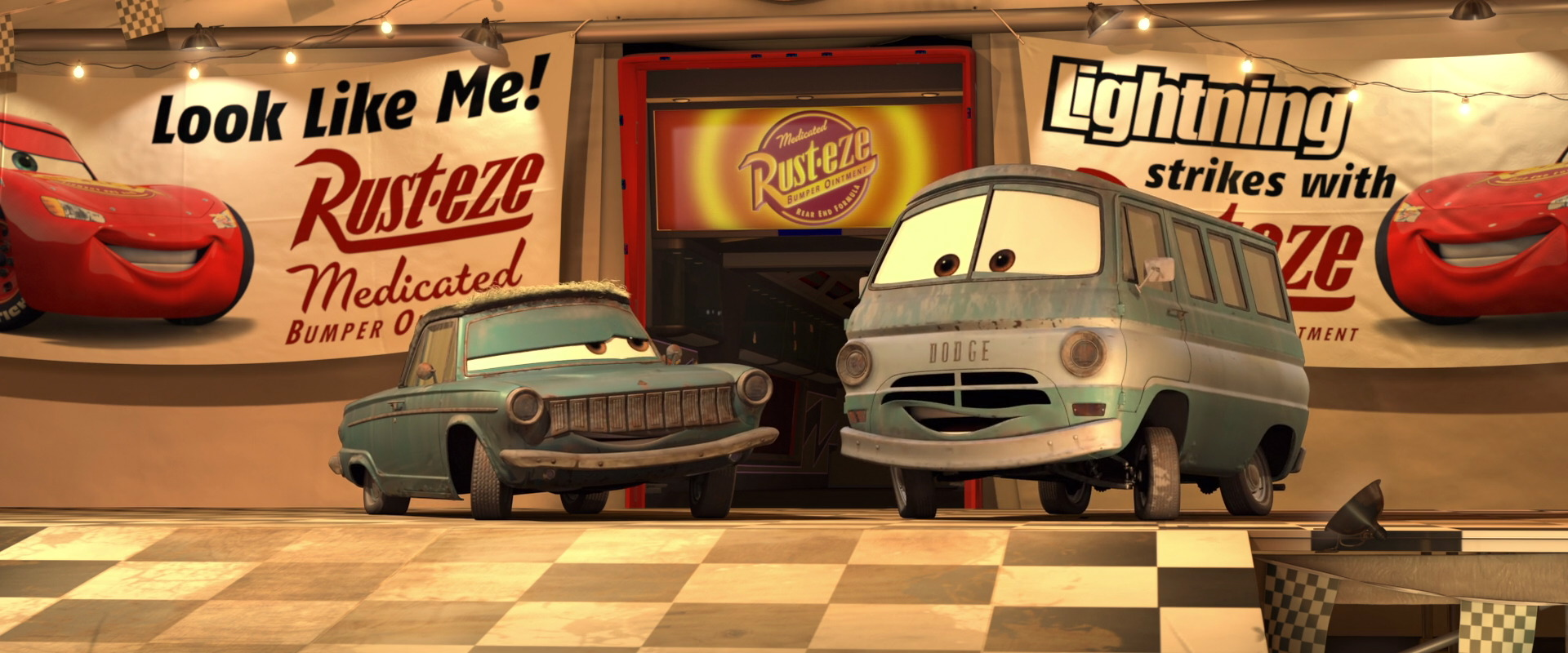 dusty rust-eze personnage character pixar disney cars