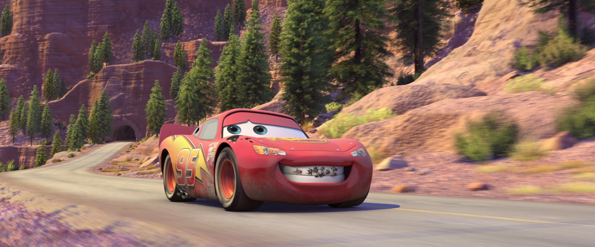 that night mater asks mcqueen to go with him to engage in some fun tractor tipping out in the fields the roar of mcqueens engine causes frank the combine - Mcqueen Flash Mcqueen