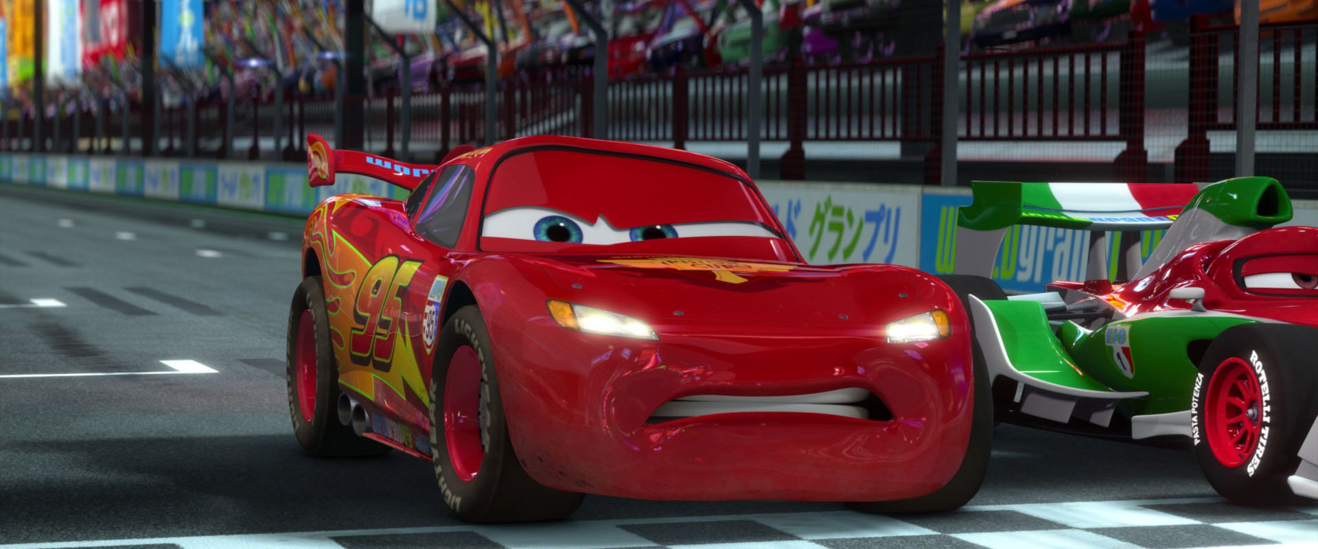 lightning mcqueen character from �cars� pixarplanetfr