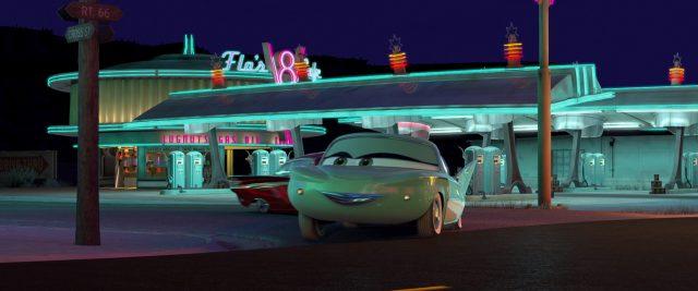 flo personnage character cars disney pixar