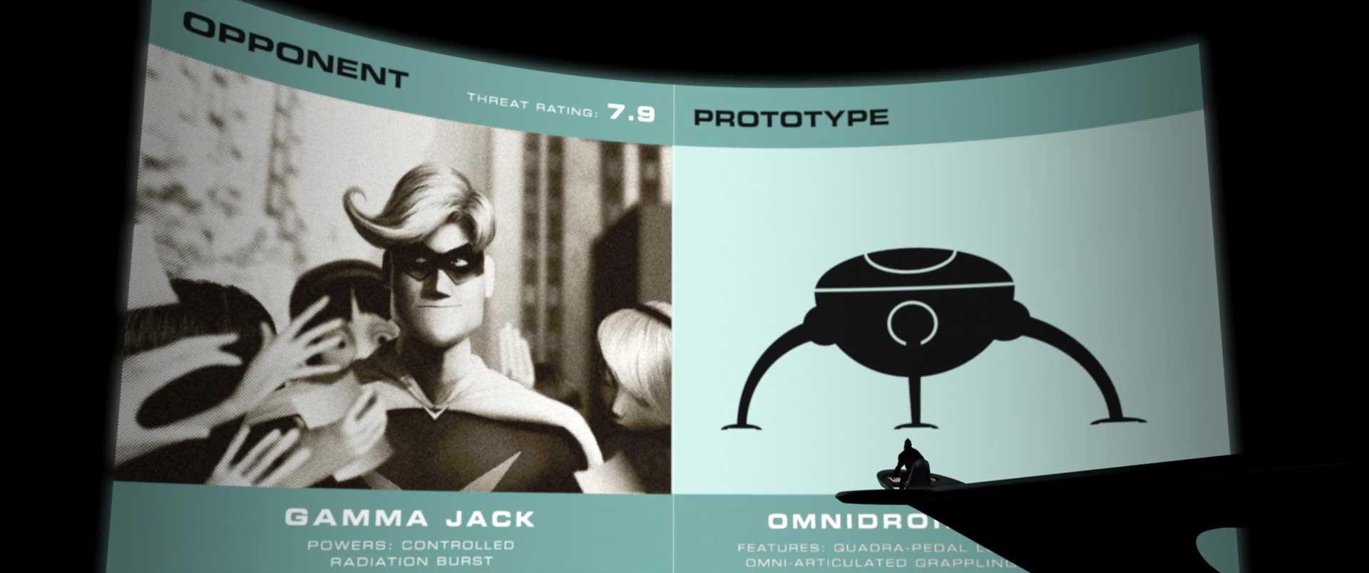 gamma jack pixar disney personnage character indestructibles incredibles