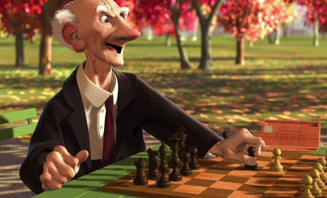 geri game joueur echec personnage character disney pixar