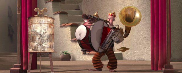 image homme orchestre one man band disney pixar