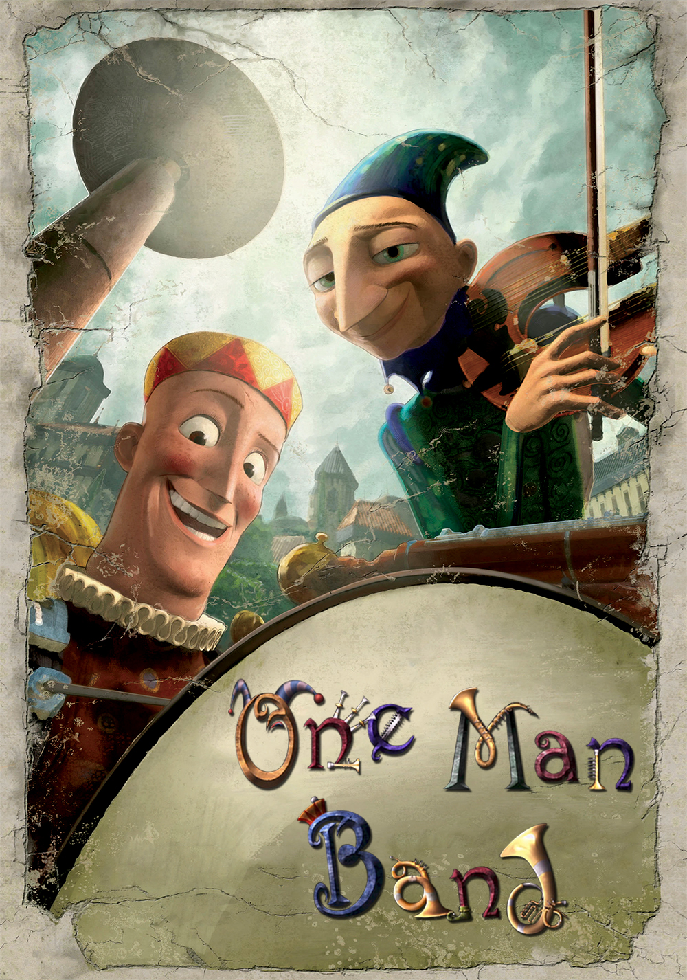 affiche poster homme orchestre one man band disney pixar
